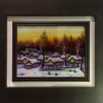 olio su vetro Pirac 35 x 45